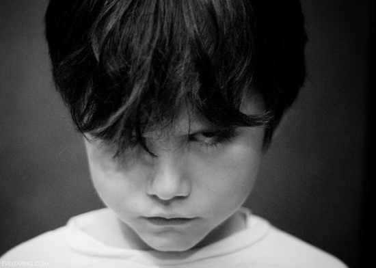 Photo de lucas Clavel enfant en noir et blanc
